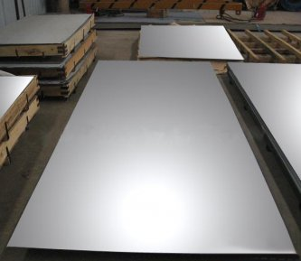 Brushed, polished stainless steel sheet